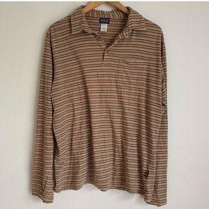 Men's Patagonia 100% organic cotton striped shirt